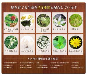 ウーマシャンプー生薬25種類