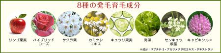 発毛育毛成分8種